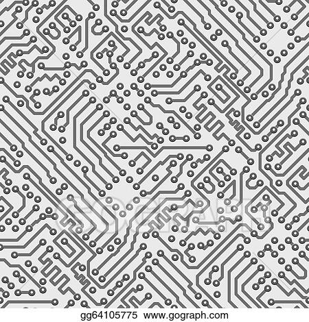 EPS Vector - Circuit board vector computer seamless pattern. Stock ...