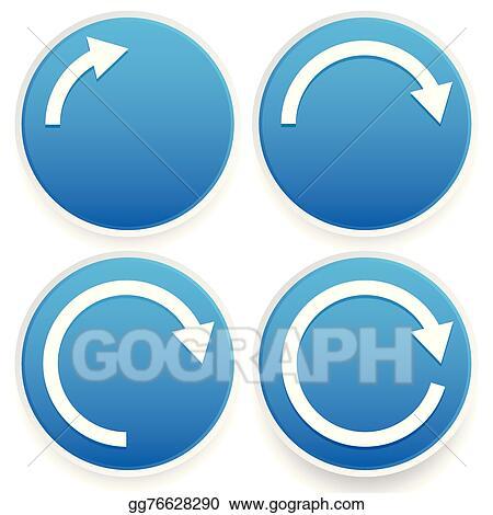 Eps Illustration Circular Arrows 14 12 34 And Full Circles
