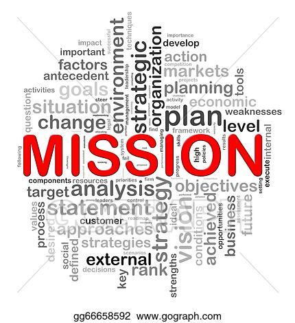 stock illustration circular design mission word tags clip art