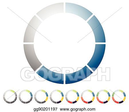 Vector Illustration - Circular preloader, progress indicator icon w