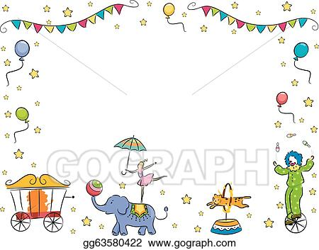 EPS Illustration - Circus band border frame. Vector Clipart ...