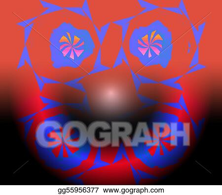 Stock Illustration Circus Clown An Abstract Drawing Of