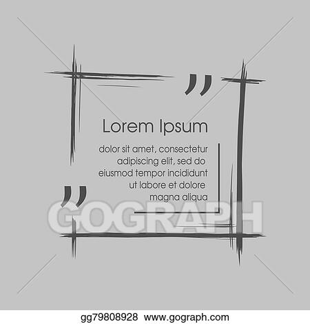 Vector Clipart Citation Text Box Frame For Decoration Quote And - Business card sheet template