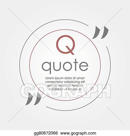 Vector clipart citation text box frame for decoration quote and quote blank template quote bubble empty template business card template paper sheet information text print design quote form reheart Images
