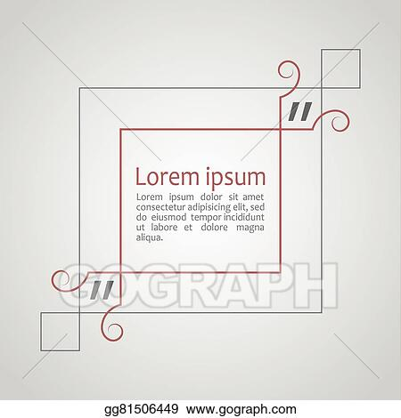 vector art citation text box frame for decoration quote and other