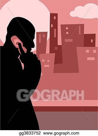 Stock Illustration - City call  Clipart Drawing gg3833752