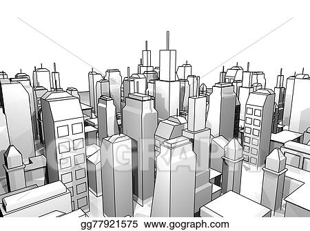 Stock Illustration City Draw Clipart Drawing Gg77921575 Gograph