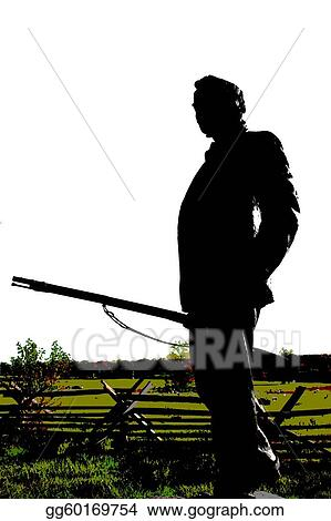 drawings civil war soldier monument stock illustration gg60169754