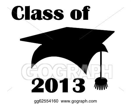 stock illustration class of 2013 mortarboard clipart rh gograph com 2013 Graduation Gifts 2013 Graduation Gifts