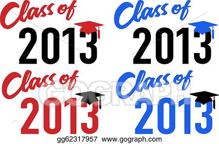 vector clipart class of 2013 school graduation date cap vector rh gograph com Class of 2013 Logo 2013 Graduation Gifts