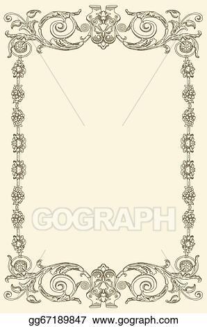 Vector Clipart - Classical vintage old frame design   Vector