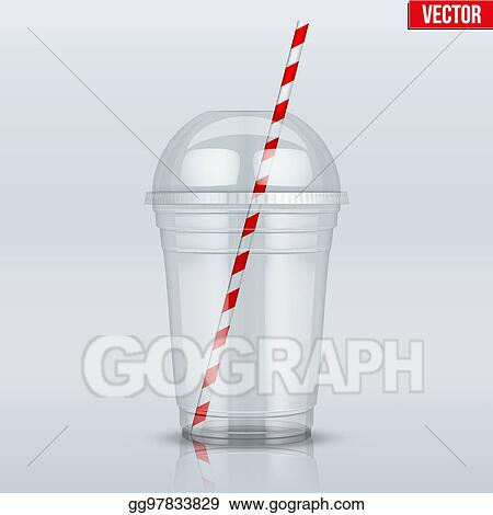 Vector Art - Clear plastic cup with sphere dome cap and tube