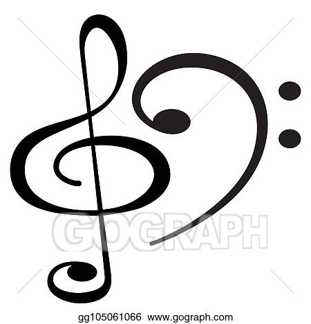 Eps Vector Clef Musical Symbols Stock Clipart Illustration