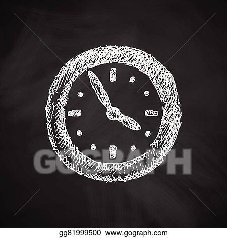 Clip Art Vector - Clock icon  Stock EPS gg81999500 - GoGraph