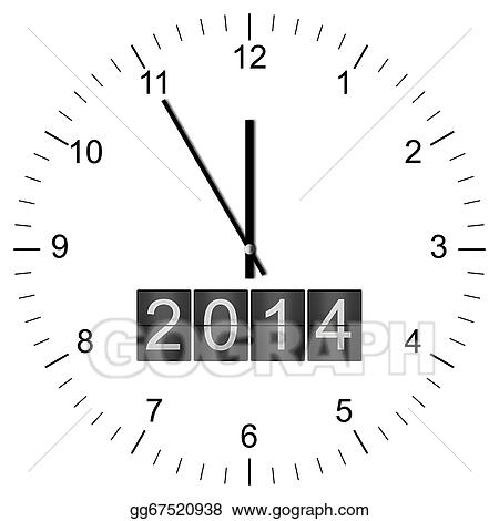 Drawing - Clock illustration new years eve 5 to 12. Clipart Drawing ...