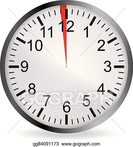 Vector clipart clock with red 1 minute deadline vector clock with red 1 minute deadline publicscrutiny Image collections
