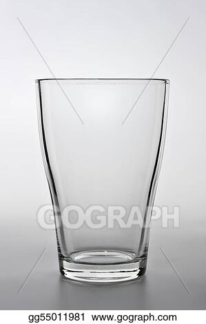 Stock Images Close Up Shot Of An Empty Water Glass Stock