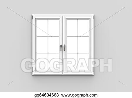 Drawing Closed window on white background Clipart Drawing