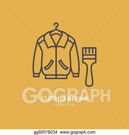 Clip Art Vector Clothing Repair Line Icon Logo Dry Cleaning