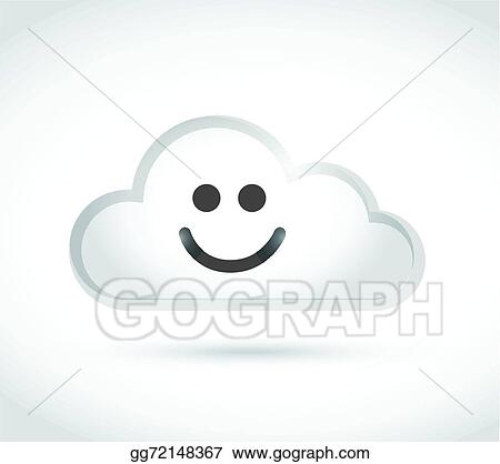Clip Art Vector Cloud Computing Smiley Face Illustration Design