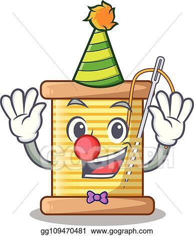 Clip Art Vectoriel Clown Fil Bobine Dans A Forme
