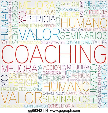 stock illustration - coaching concept related spanish. clipart