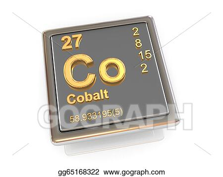 Stock Illustration Cobalt Chemical Element Clipart Illustrations