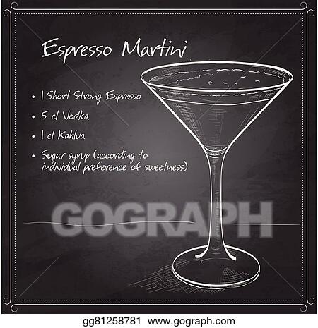 Vector Art Cocktail Espresso Martini Clipart Drawing Gg81258781 Gograph