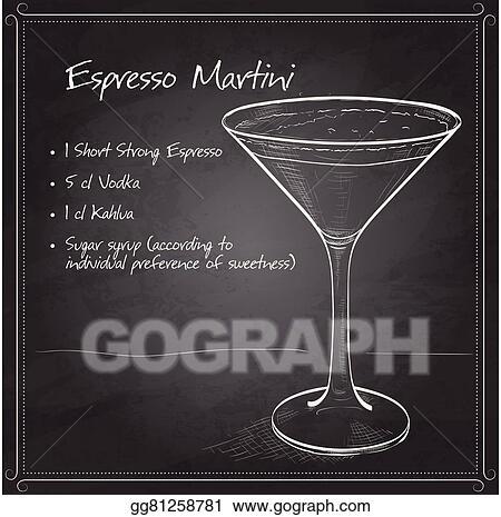 Vector Art Cocktail Espresso Martini Clipart Drawing Gg81258781 Gograph