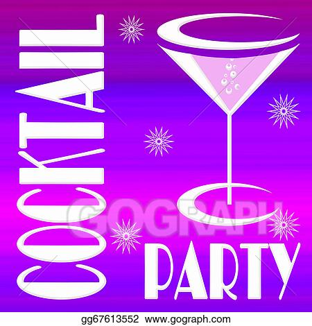Clipart Cocktail Party Stock Illustration Gg67613552