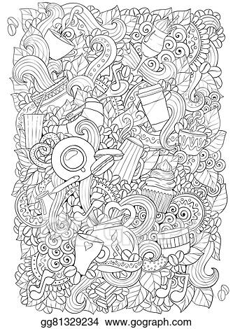 Ethnic Zentangle Pattern Can Be Used For Menu Wallpaper Fills Coloring Books And Pages Kids Adults Black White
