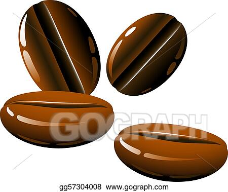 Vector Clipart Coffee Beans Vector Illustration