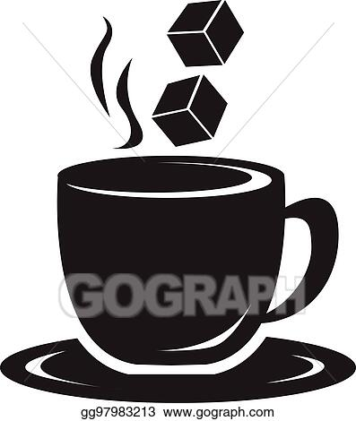 Coffee cup illustration. Vector stock clipart