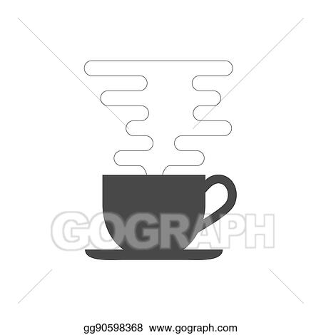 Stock Illustration Coffee Cup With Smoke Icon Symbol In Trendy