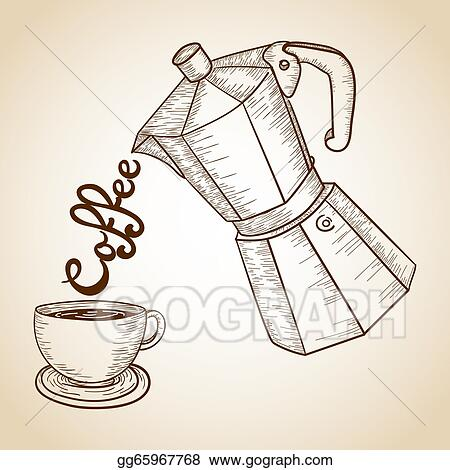And Jar Of Coffee Serving Text Illustration This Vector Is Layered For Easy Manipulation Custom Coloring Clipart Drawing Gg65967768