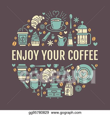 Clip Art Vector - Coffee making poster template  brewing