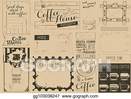 Clip Art Vector Coffee Menu Craft Placemat Stock Eps Gg103038247
