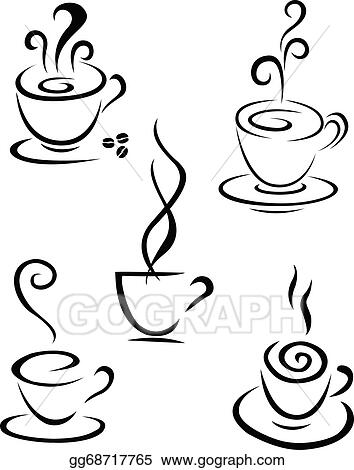 Stock Illustration Coffee Symbol Collection Clipart Drawing