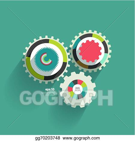 Vector illustration cog wheel circle flat diagram eps clipart cog wheel circle flat diagram ccuart Images