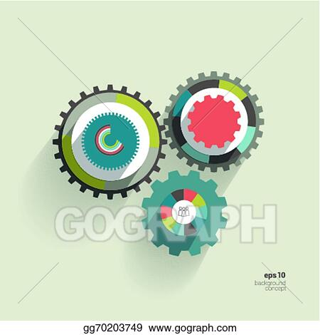Vector illustration cog wheel circle flat diagram eps clipart vector illustration cog wheel circle flat diagram for info graphic trend color template eps clipart gg70203749 ccuart Images