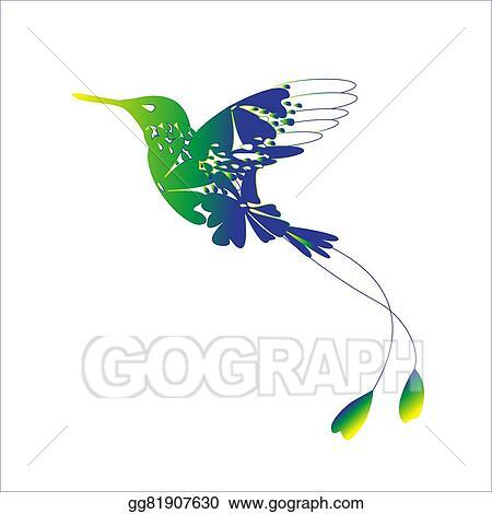 Vektorkunst Colibri Eps Clipart Gg81907630 Gograph