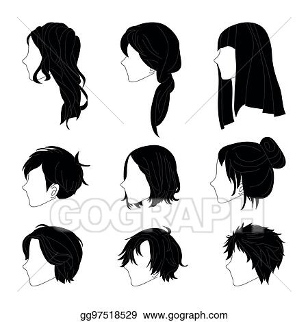 vector clipart collection hairstyle side view for man and woman rh gograph com vector clipart collections vector clipart collection