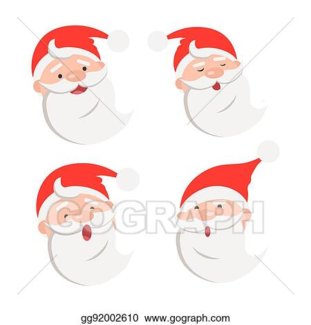 3199f577fb2363 EPS Vector - Collection of four santa claus face expressions. Stock ...