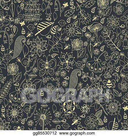 Collection Of Se Drawn In Line Art Style On White Background Ocean Seamless Vector Pattern Coloring Page Design Zen Tangle