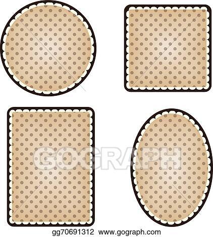 Vector Illustration - Collection of vintage polka dot frames. Stock ...