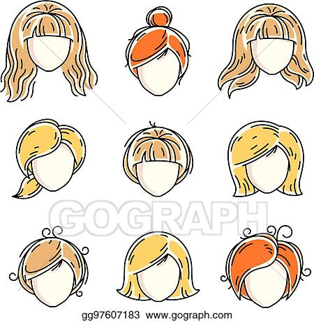 Vector Stock Collection Of Women Faces Human Heads