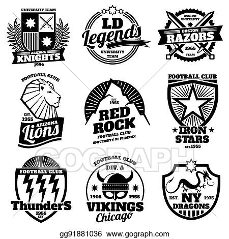 Vector Illustration - College athletic labels d48368713