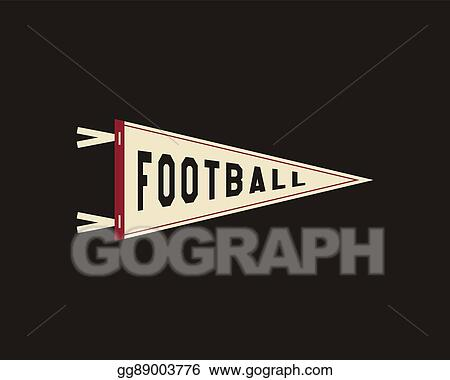 Vector Stock College Football Pennant Banner Icon Sport Flag Training Camp Emblem University Team Label Element Vector Sign Stock Clip Art Gg89003776 Gograph