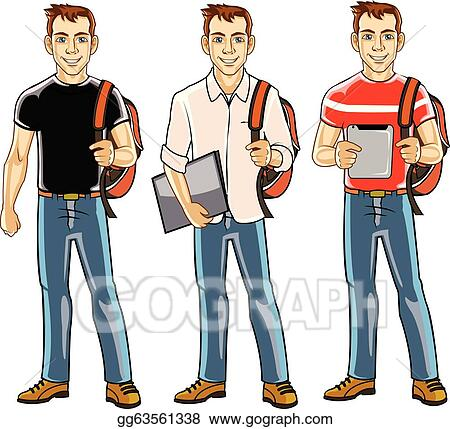 vector stock college student boy stock clip art gg63561338 gograph rh gograph com college student studying clipart college student studying clipart