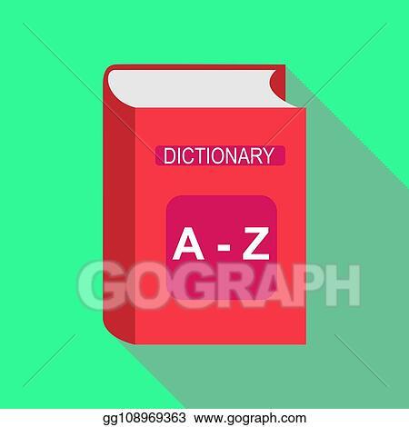 Illustration Vectorielle Colore Plat Dictionnaire Livre